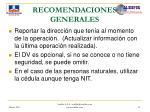 recomendaciones generales41