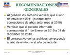 recomendaciones generales44