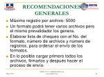 recomendaciones generales45