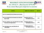 regimen sancionatorio art 651 e t y resoluci n 11774 05 si no existe base para imponer la sanci n