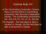 comma rule 2