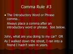comma rule 3
