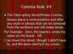 comma rule 4