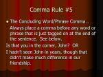 comma rule 5