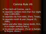 comma rule 6