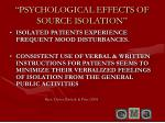 psychological effects of source isolation
