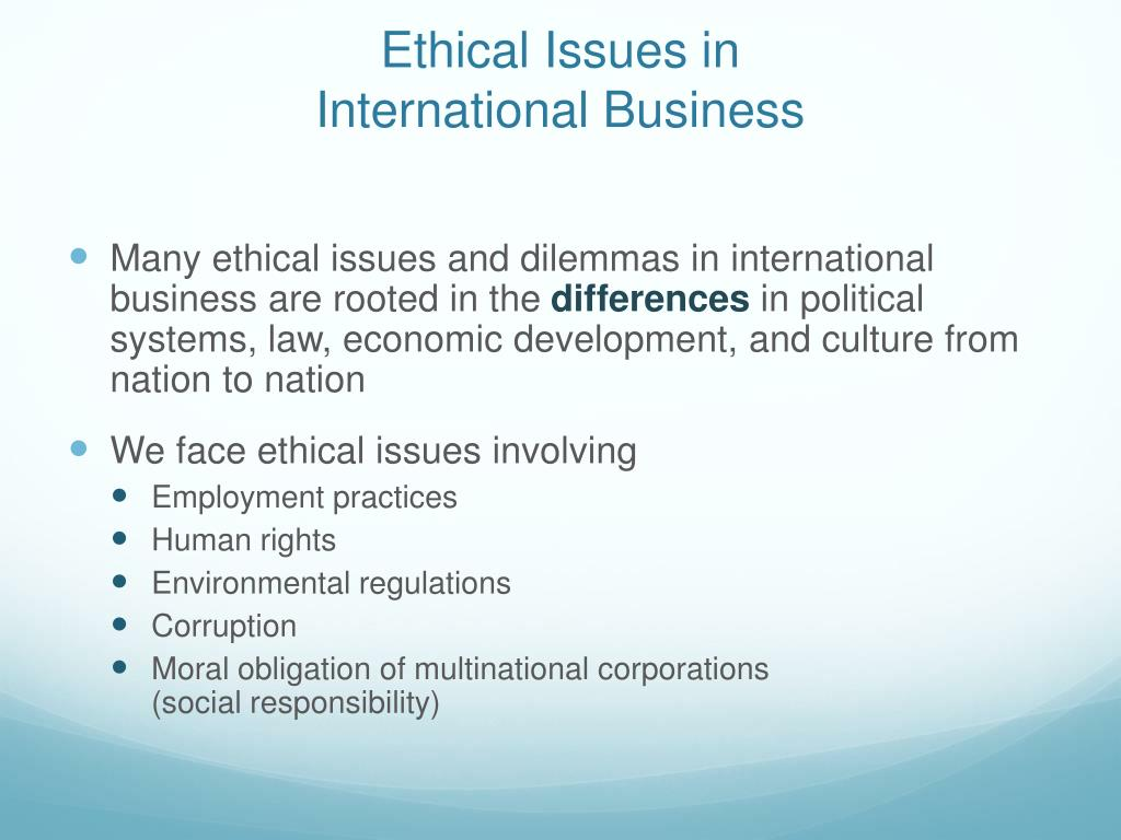 multinational corporations and moral obligation In the first blog i looked at the definition and various perspectives on just what it  means to say a corporation has social responsibilities and new.