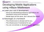 developing mobile applications using mbaze middleware