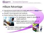 mbaze advantage