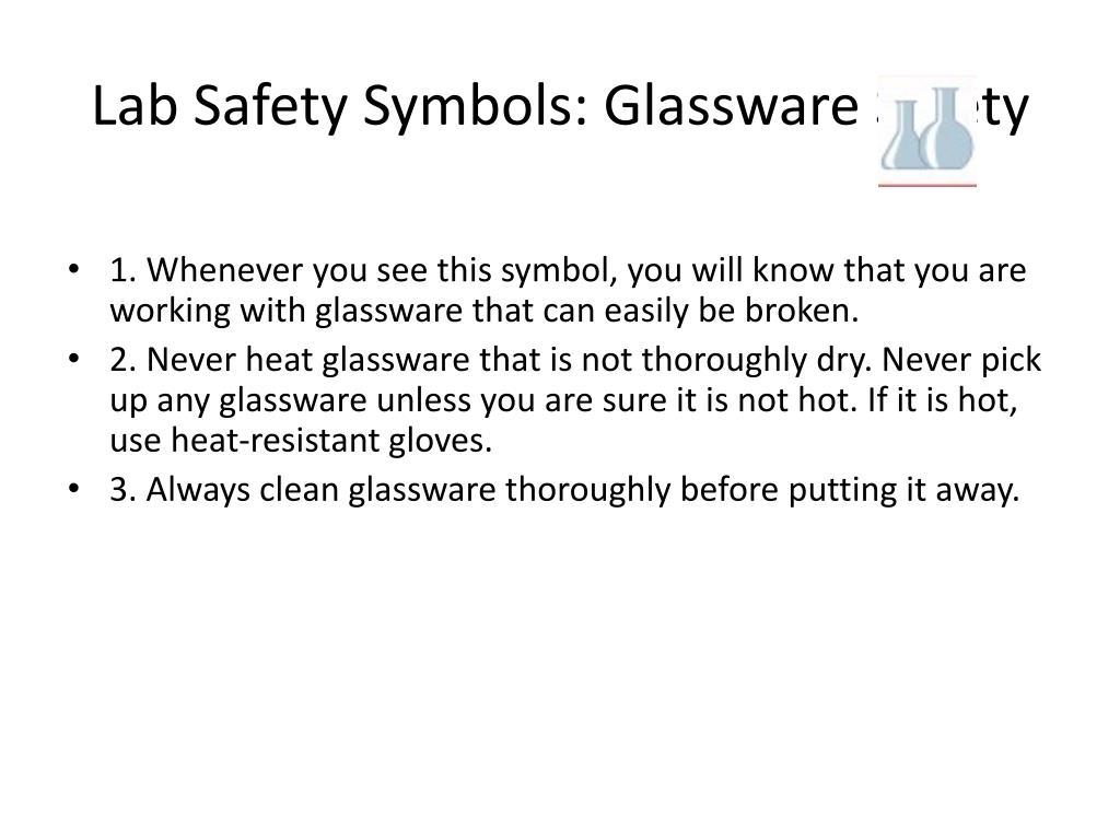 Lab Safety Symbols: Glassware Safety