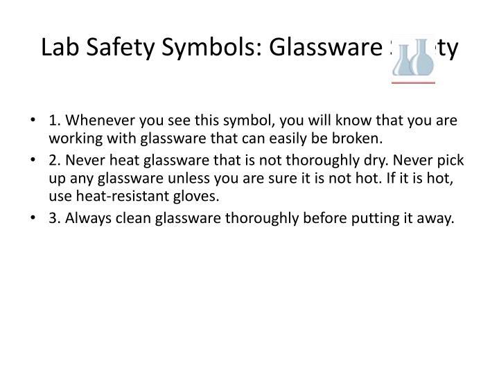 Lab safety symbols glassware safety