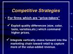 competitive strategies21