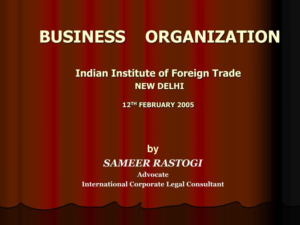 business organization l.
