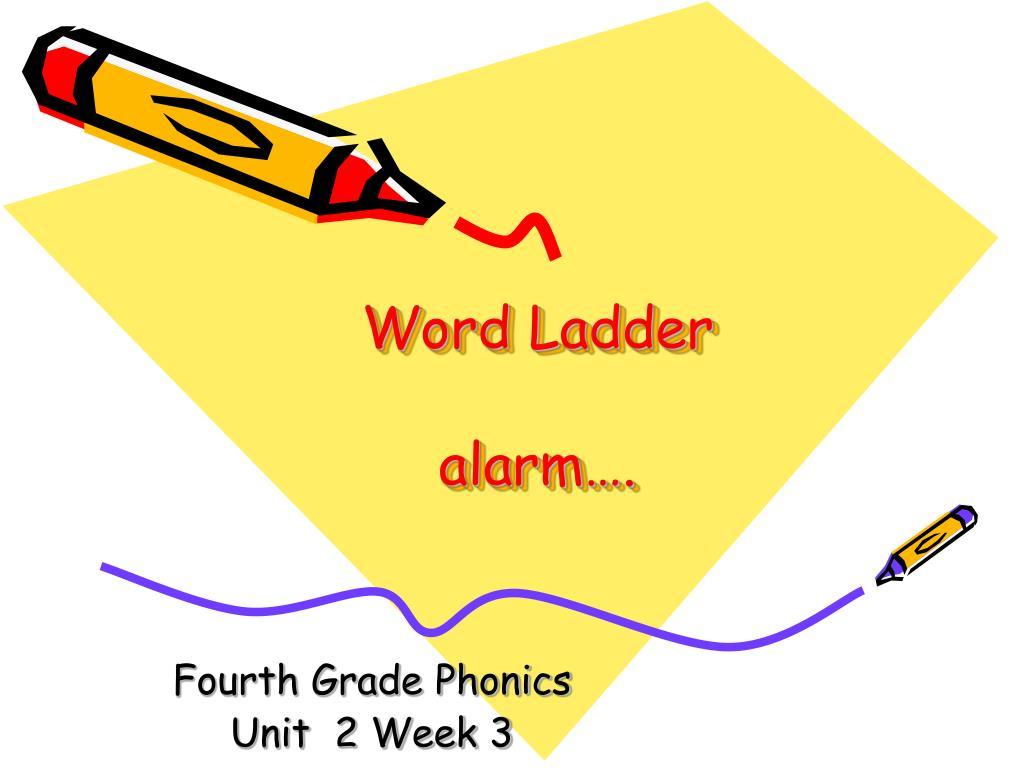 word ladder alarm l.