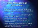 case management principles