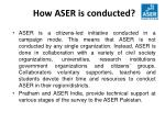 how aser is conducted