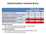 school facilities provision use