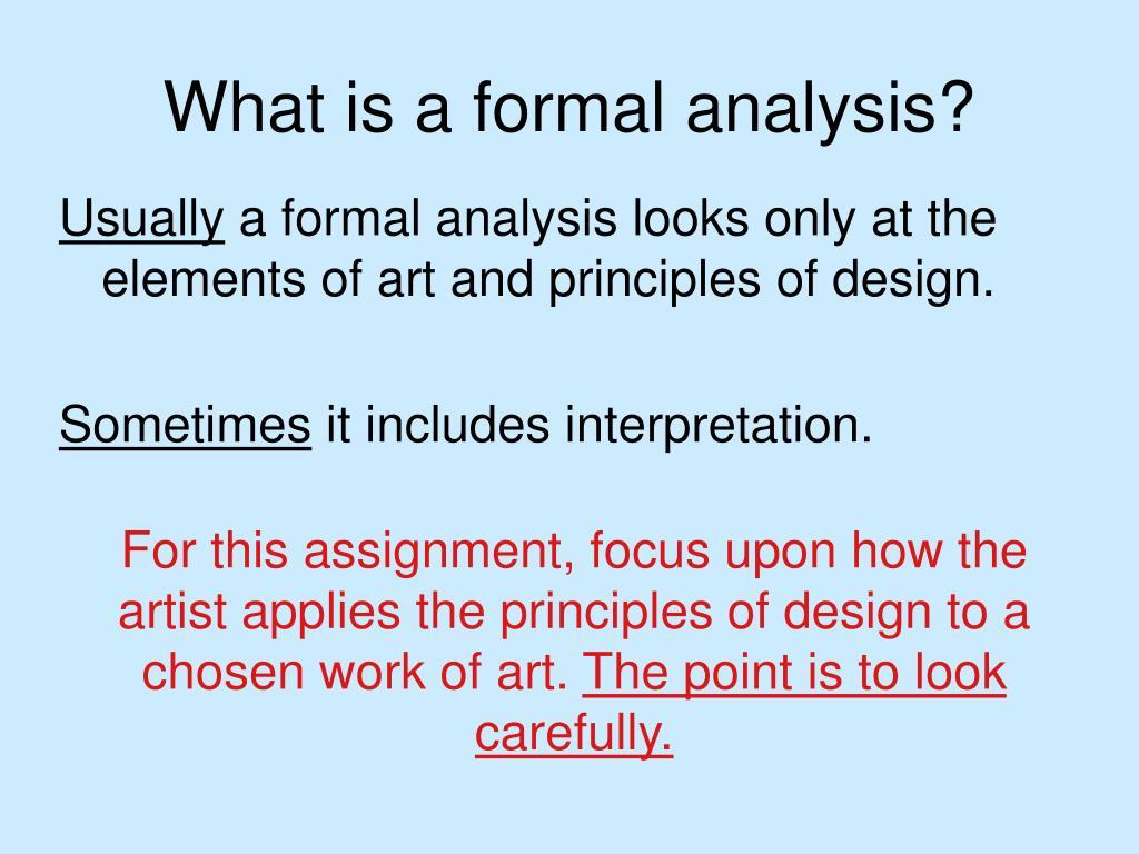 artwork analysis thesis