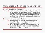 conceptos y t cnicas relacionadas12