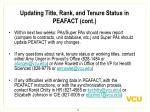updating title rank and tenure status in peafact cont16