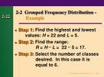 2 2 grouped frequency distribution example21
