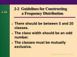 2 2 guidelines for constructing a frequency distribution