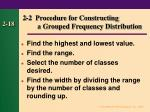 2 2 procedure for constructing a grouped frequency distribution