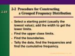 2 2 procedure for constructing a grouped frequency distribution18