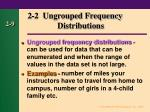 2 2 ungrouped frequency distributions