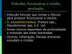 foliculite furunculose e celulite profundas