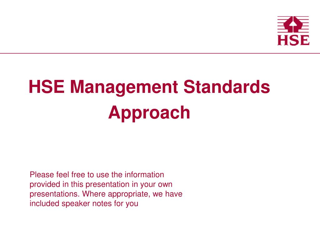 hse management standards approach l.