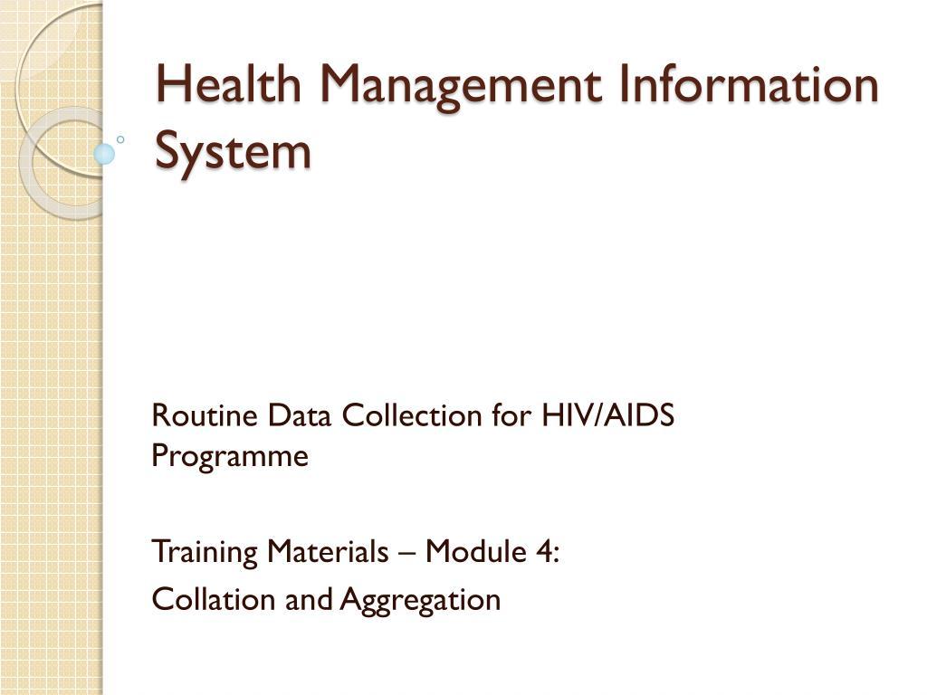 health management information system l.
