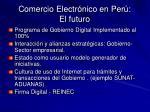comercio electr nico en per el futuro