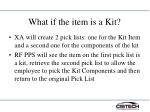 what if the item is a kit