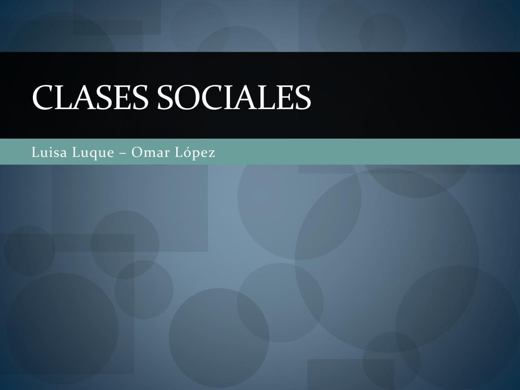 clases sociales l.