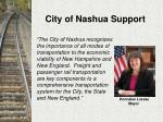 city of nashua support