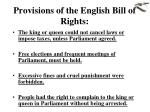 provisions of the english bill of rights