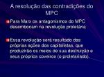 a resolu o das contradi es do mpc