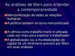 as an lises de marx para entender a contemporaneidade