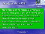 beneficios de la scm t cticos