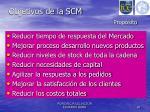 objetivos de la scm prop sito
