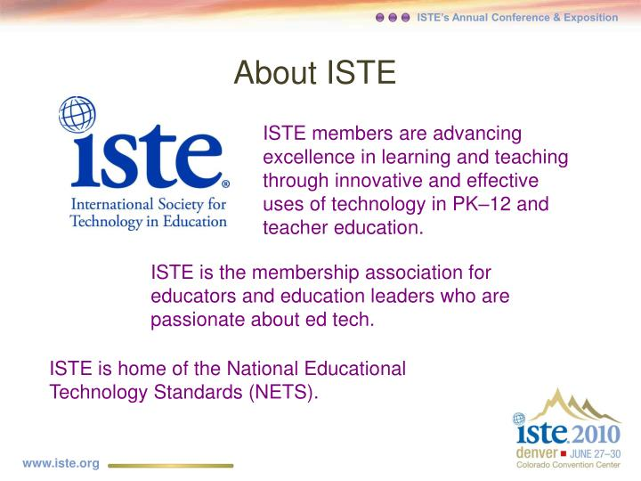 About iste