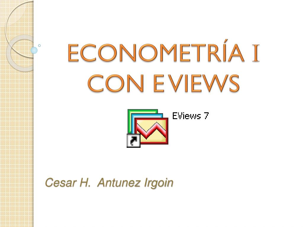 econometr a i con e views l.