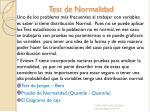 test de normalidad