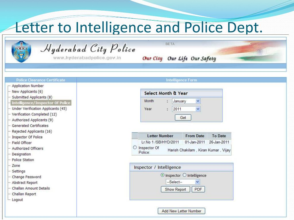 PPT - Police Clearance Certificate PowerPoint Presentation