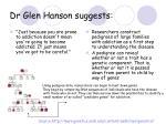 dr glen hanson suggests