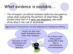 what evidence is available