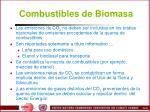 combustibles de biomasa