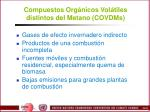 compuestos org nicos vol tiles distintos del metano covdms