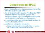 directrices del ipcc